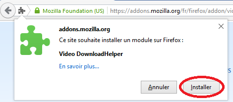 Installer Video DownloadHelper (Pour enregistrer des vidéos Youtube